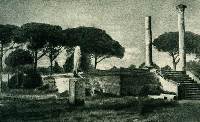 Riccardo_Peretti_Griva_Ostia_scavi_archeologici_1949