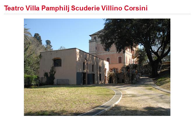 Teatro Villa Pamphilj Scuderie Villino Corsini
