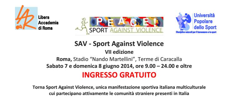 SAV Sport Against Violence