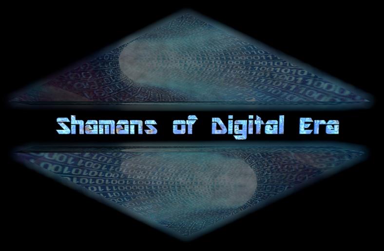 logo SHAMANS OF DIGITAL ERA, 17 e 18 Luglio 2015, Largo di Pietralata (Roma).web