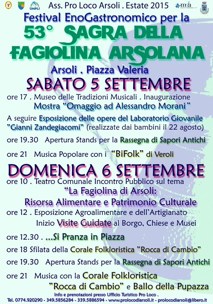 manifesto Sagra Fagiolina